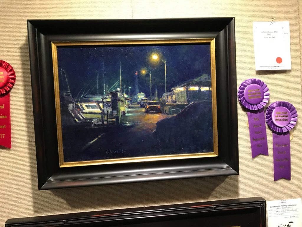 """Lahaina Harbor After Dark,"" by Carl Bretzke. Collectors' Choice"