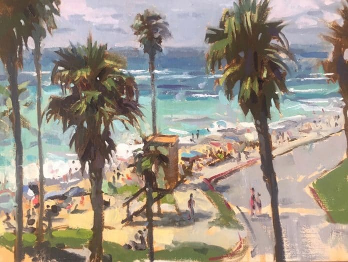 Painting palm trees - Jeff Markowsky at OutdoorPainter.com