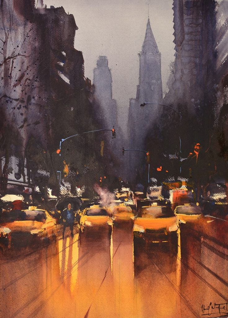 Alvaro Castagnet watercolor paintings