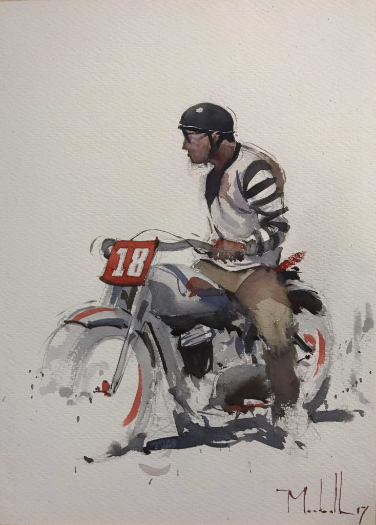 Watercolor by Dan Marshall, featured on the PleinAir Art Podcast with Eric Rhoads