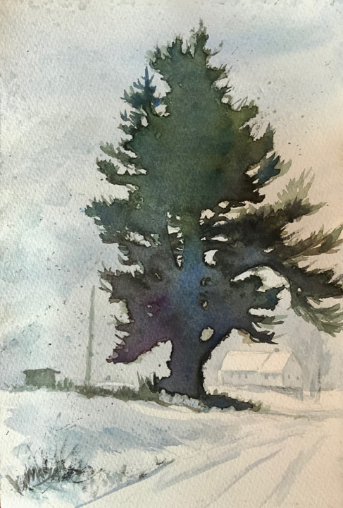 Painting trees with watercolor - OutdoorPainter.com